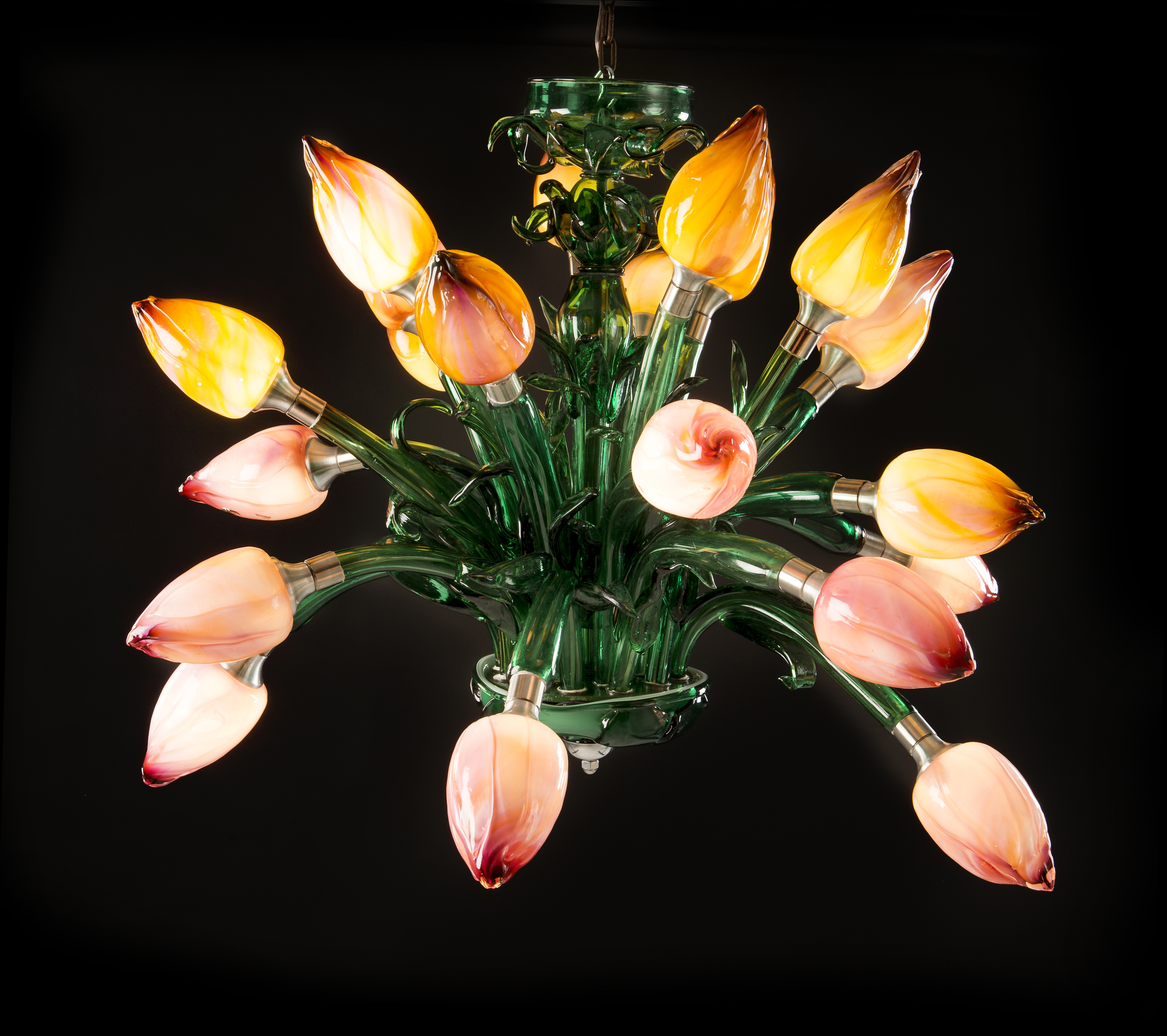 Tulip fever chandelier tim shaw glass artist share aloadofball Image collections